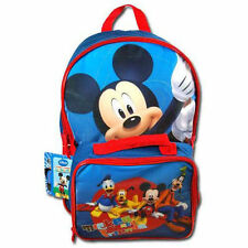 "Backpack 16"" + Detachable Lunch Bag Disney Mickey & Friends NWT"