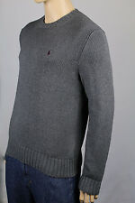 Polo Ralph Lauren 6XB Grey Crewneck Sweater Burgundy Pony NWT