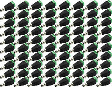 100PCS 5.5mm DC 12V Power Male Plug Jack Adapter Connector For CCTV Camera