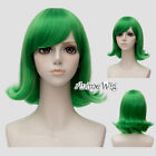 30cm Short Layered Green Heat Resistant Inside Out Disgust Anime Cosplay Wig+Cap