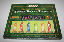 100 Icicle Super Brite Christmas Lights String Indoor & Outdoor Multi Bright