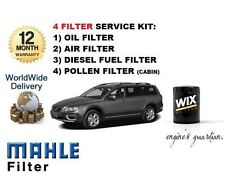 FOR VOLVO XC70 2.4D D5 185bhp 2007-2009 SERVICE OIL AIR FUEL POLLEN FILTER KIT