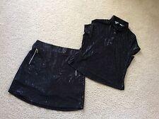 Jamie Sadock 2pc Golf Outfit SZ S Top SZ M Skort  Black Poly Spandex EUC