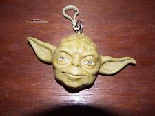 Star Wars Yoda key ring coin purse figure toy character 3D bag clip 1999