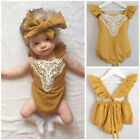 Toddler Infant Baby Girl Romper Bodysuit Jumpsuit Lace Sunsuit Outfits Clothes