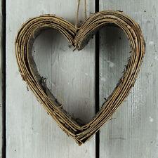 Natürlich Weihnachten Buche Bellen Herz Wandbehang Kranz Rustikale Schick