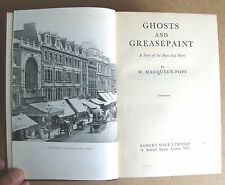 GHOSTS AND GREASEPAINT 1951 1st ed W MacQueen Pope 104 illustrations HB VGC