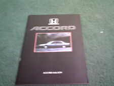 May 1986 HONDA ACCORD SALOON EX / EXi - UK BROCHURE Ted Johnson Barnsley Stamp