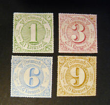 "GERMANIA ,GERMANY Old State THURN & TAXIS 1866 ""Cifra al centro"" 4V.Cpl Set MH*"