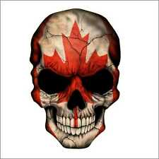 Canadian Skull Canada Car Window Vinyl Decal Sticker Jeep Camaro SRT F150 Ram250