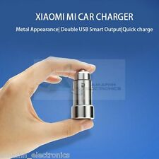 New 100% ORIGINAL XIAOMI Mi 3.6Amp Dual USB Metal FAST Car Charger Adapter