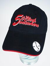5 O'Clock Somewhere Black Baseball Cap Adult Hat Party Time