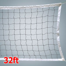 2016 NEW VOLLEYBALL NET With Steel Cable Rope Official Size Beach Outdoor Indoor