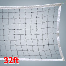 NEW VOLLEYBALL NET With Steel Cable Rope Official Size Beach Outdoor Indoor 2016