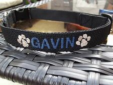 New Small Dog Collar, Personalized, Embroidered with name, Unisex, Adjustable, S