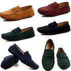 Fashion Mens Casual Suede Leather Slip On Loafers Driving Shoes Moccasins Flats