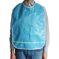 Reusable special needs adult vinyl bib (blue)