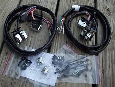 Handlebar Wiring Kit with Chrome Switches 1996-later Harley Touring with Radio