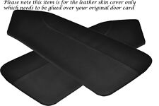 BLACK STITCH FITS  HYUNDAI COUPE 02-09 2 X DOOR CARD PERFORATED COVERS ONLY