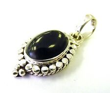 Gorgeous Fancy 925 Sterling Silver Black Onyx Pendant F50