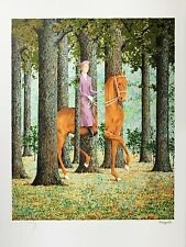 René Magritte - The Blank Signature (color lithograph, plate-signed & numbered)