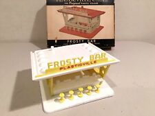 Plasticvlle O scale,  White / Yellow Frosty Bar, Complete, OB, Terrific