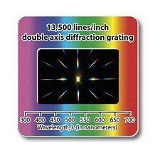 Diffraction Grating Slide Double Axis 13500 lines/in Lamp / Laser Holographic #