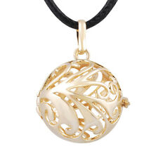 Harmony Ball Cage Gold Pendant f/ 20mm Ball Chime Sounds Angel Caller Necklace