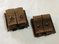 LOT of 2 SDS 40MM GRENADE POUCH DOUBLE HE COYOTE TAN US MILITARY M203 USMC NEW