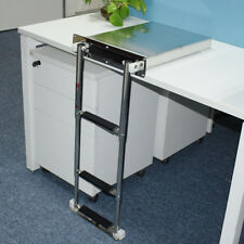 Stainless Steel 3 step Concealed Box Telescopic Ladder For Boat Marine Well Made