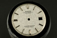 Genuine Rolex DateJust Dial Silver Linen Pie Pan Non Quickset 1601 1603 D0065