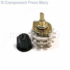 4P-5T Ceramic Rotary Switch 4 Pole 5 Positions 6mm RF