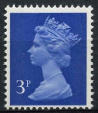 GB SG#X855, 3p Ultramarine QEII Machin Definitive 2B MNH #D2919