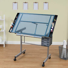 Home Hobby Table Craft Table With Storage Drafting Draftsman Crafting Art Light