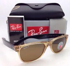 Ray-Ban Sunglasses RB 2132 NEW WAYFARER 945/57 Honey Frame Brown Polarized Lens