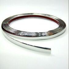 New 5mm x 5m Chrome Trim Strip trim Chrome moulding Adhesive Plastic