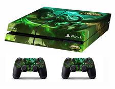 Piel de vinilo PS4 Pegatinas Guerra De Warcraft Legión para consolas y 2 controladores