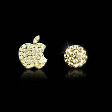 Crystal Bling Deco Home Button Decal Stickers For iPhone 4S 5 5S 6 6s Plus Gold
