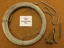 2.6mm x 10m 12 SWG SOFT Stainless Steel Wire Locking Craft Chainmail Sculpting