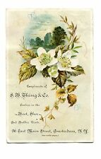 Victorian Trade Card SB THING & CO Family Shoe Store Amsterdam NY boots rubbers