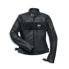 NEW DUCATI Apparel Company Leather Jacket SIZE XXL WOMENS Black