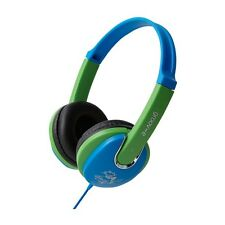 Groov-e Kids Kiddiez Headphones Lightweight Childrens Earphones Blue Green GV591