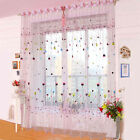 Color Sheer Curtain Window Screens Curtains Voile Curtain Panel Sheer Hot Sell