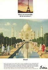 "1964 India Travel ""Taj Mahal"" PRINT AD"