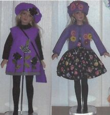 "Doll clothes Dress Pattern fits 12"" 14""  Tonner Dreary Agnes Marley Wentworth"