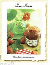 PUBLICITE ADVERTISING 106  1998  Confiture Bonne Maman aux fraises