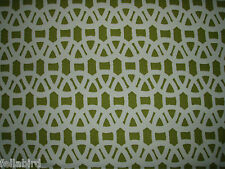 "HARLEQUIN SCION CURTAIN FABRIC DESIGN ""Lace"" 3.6 METRES OLIVE AND NEUTRAL"