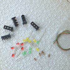 10 sets Target Faces + Accessories for Railway Dwarf signal OO HO Scale 3 Aspect