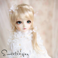 "8-9"" 1/3 BJD Hair IP SD doll wig Super Dollfie blonde French braid M-mohair"