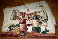 #3254 TUSCANY WINE THEMED 4 PC PLACEMAT SET